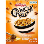 Kellogg's Crunchy Nut Honey Clusters Cereal