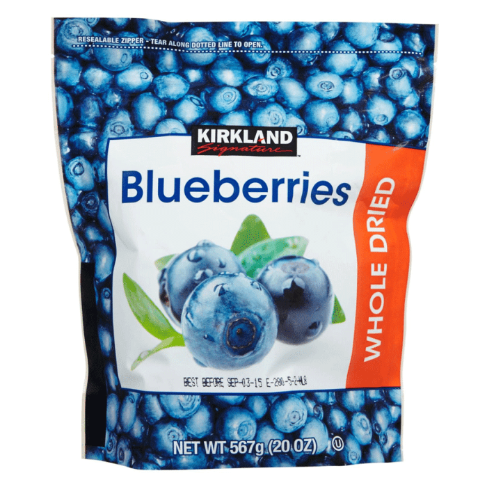 Kirkland Signature Organic Dried Blueberries