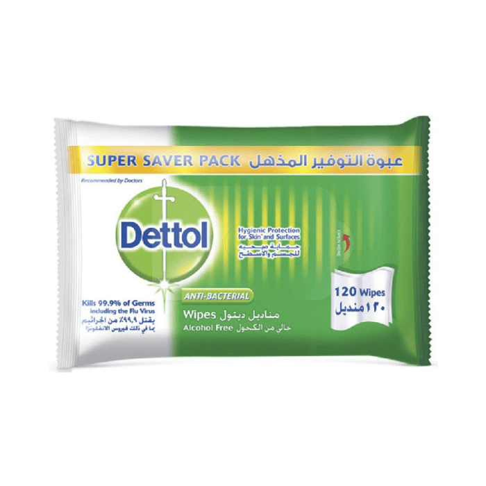 Dettol Anti-Bacterial Multi-Use Original 120 Wipes