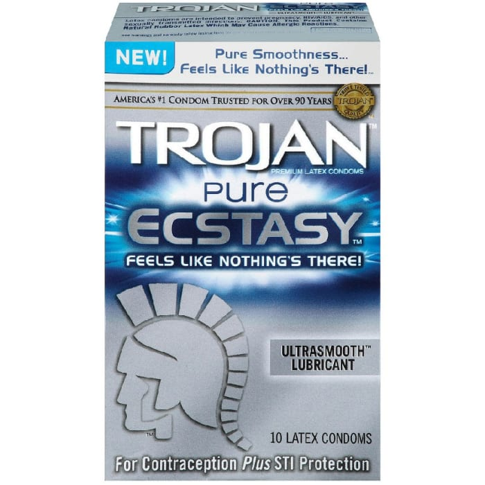Trojan Pure Ecstasy Ultrasmooth Lubricated Condom