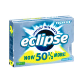Wrigley's Bubble Gums Eclipse Polar Ice 50% More Sugar Free