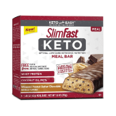 SlimFast Keto Meal Replacement Whipped Peanut Butter Chocolate Bars 210 Grams