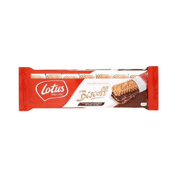 Lotus Biscoff The Original Caramelised Biscuit with Belgian Chocolate 154 Grams