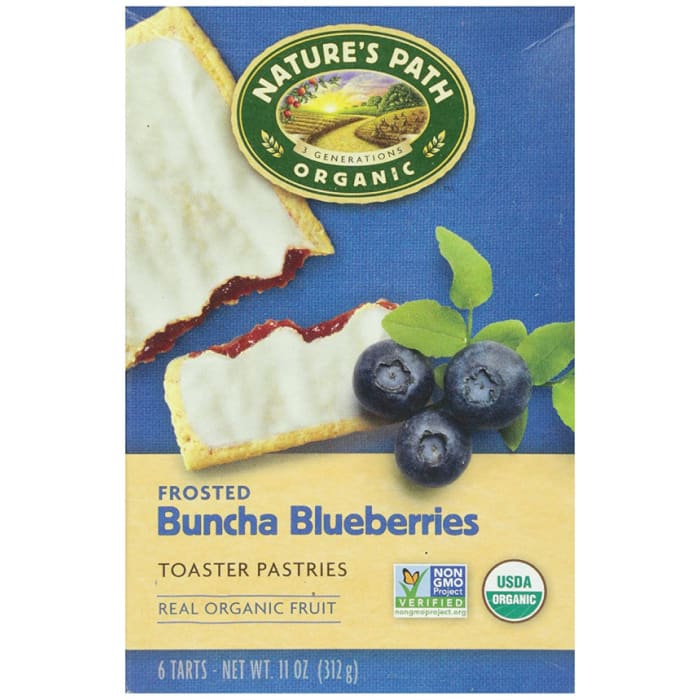 Nature's Path Organic Toaster Pastries Frosted Buncha Blueberries