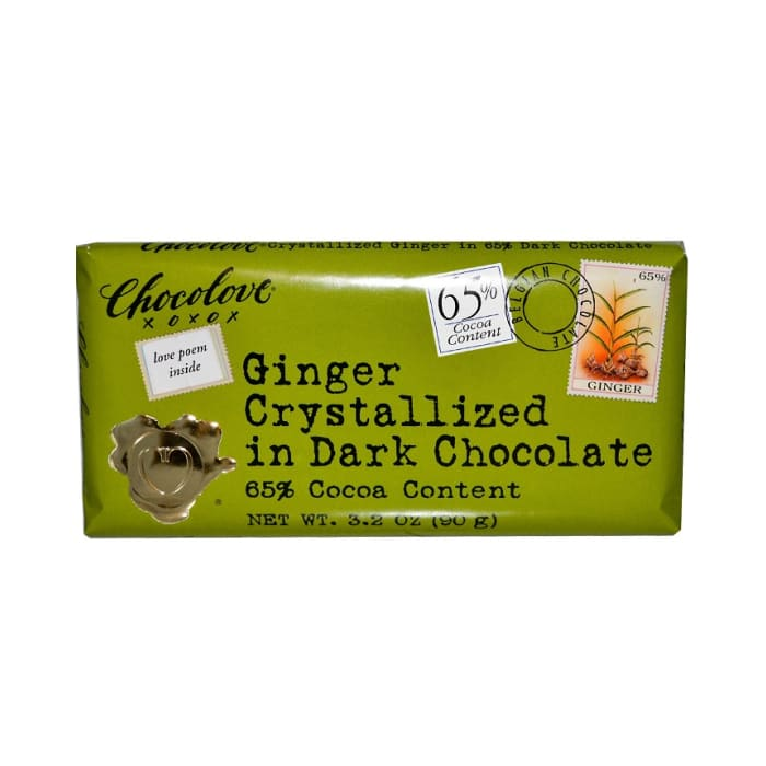 Chocolove Ginger Crystallized In Dark Chocolate 65% Cocoa