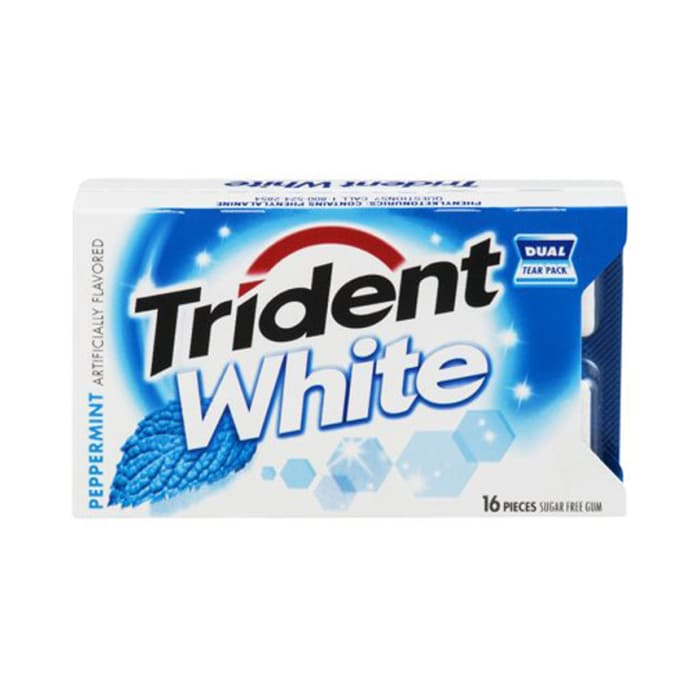 Trident Peppermint White Gum