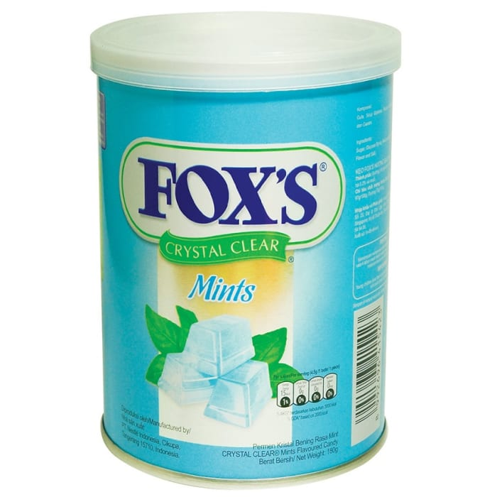 Fox's Crystal Clear Mints Candy Tin