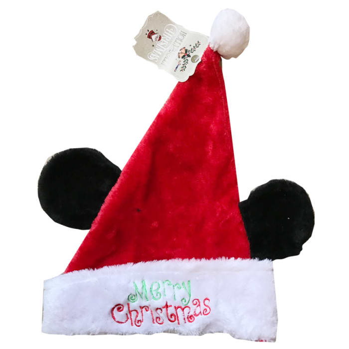 Chamdol Xmas Plush Hat Ears and Embroidery