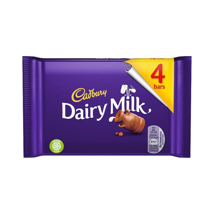 Cadbury Dairy Milk 4 Pack 117.2g