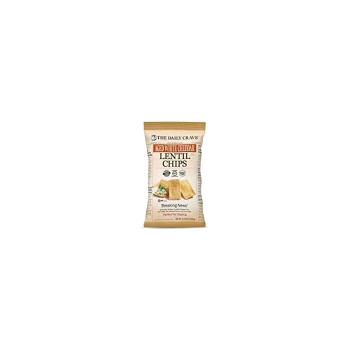 The Daily Crave Aged white Cheddar Lentil chips 120g