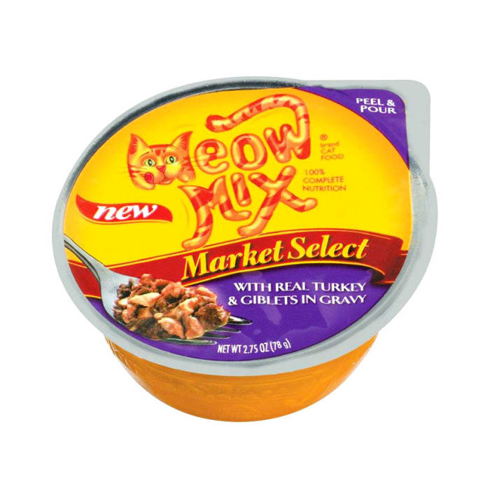 Meow Mix Cat Food with Real Turkey & Giblets In Gravy