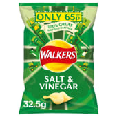 Walkers Chips Salt & Vinegar Crisps 32.5g