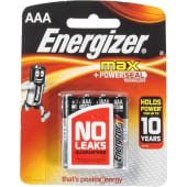 Energizer AAA Max + Powerseal Batteries