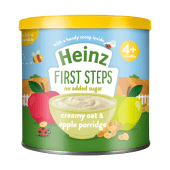 Heinz First Steps No Added Sugar Creamy Oat & Apple Porridge 4+ Months - 240 Grams