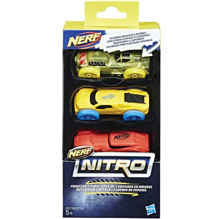 Nerf Nitro Soft Racer 3-Pack Cars