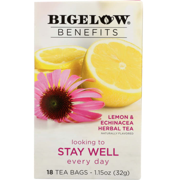 Bigelow Lemon and Echinacea Herbal Tea 32g