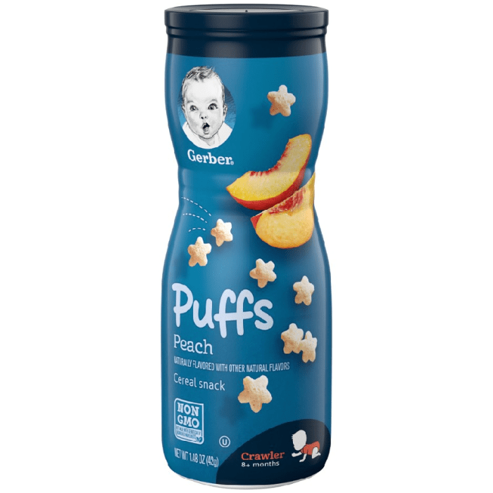 Gerber Graduates Peach Puffs Cereal Snacks