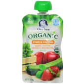 Gerber Organic Apple Spinach & Strawberry Baby Food