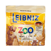 Bahlsen Leibniz Zoo Bears & Bees Biscuits with Milk & Honey 100 Grams