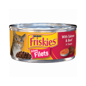 Purina Friskies Prime Filets with Salmon & Beef in Sauce 156 Grams