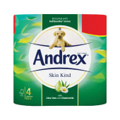 Andrex Skin Kind Toilet Tissue Four Rolls