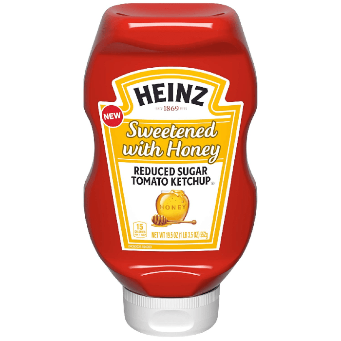 Heinz Sweetened with Honey Reduced Sugar Tomato Ketchup 552 Grams