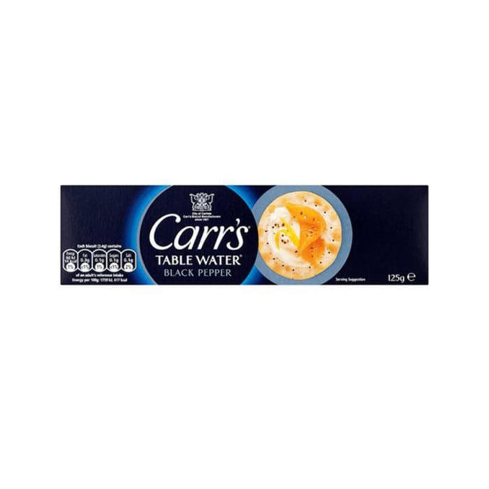 Carrs  Table Water Black Pepper Biscuits