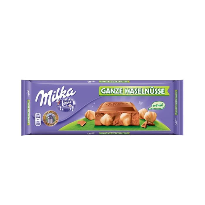 Milka Chocolate Whole Hazelnut