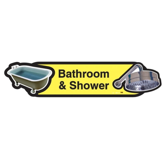 Bathroom and Shower sign  - Dementia Signage for Hospitals