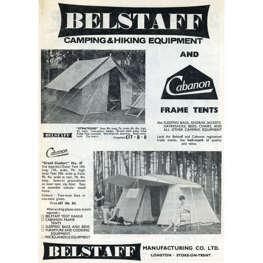 Dementia friendly Belstaff Camping - A4 (210 x 297mm)