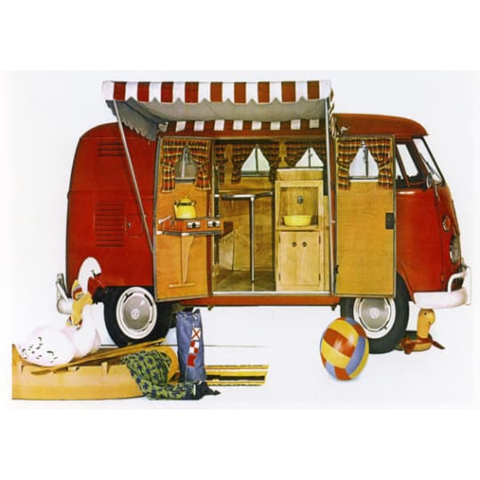 Dementia friendly Vintage Holiday Camper Van - A4 (210 x 297mm)