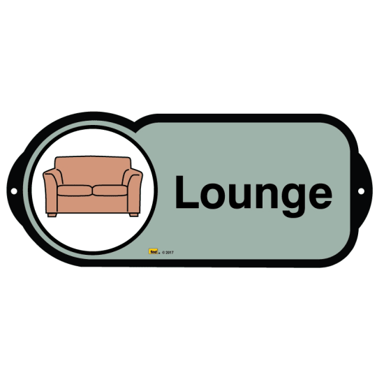 Lounge sign for autism and learning disabilities - signage