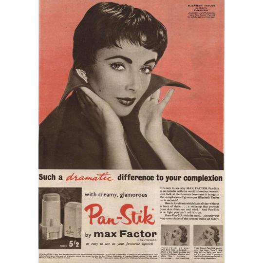 Max Factor Pan-Stick - A4 (210 x 297mm)
