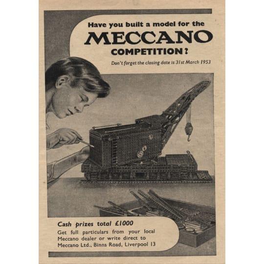 Dementia friendly Build a Model for Meccano Contest - A4 (210 x 297mm)