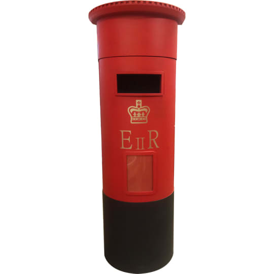 Interactive furniture Floor standing red Pillar Box style Letter Box