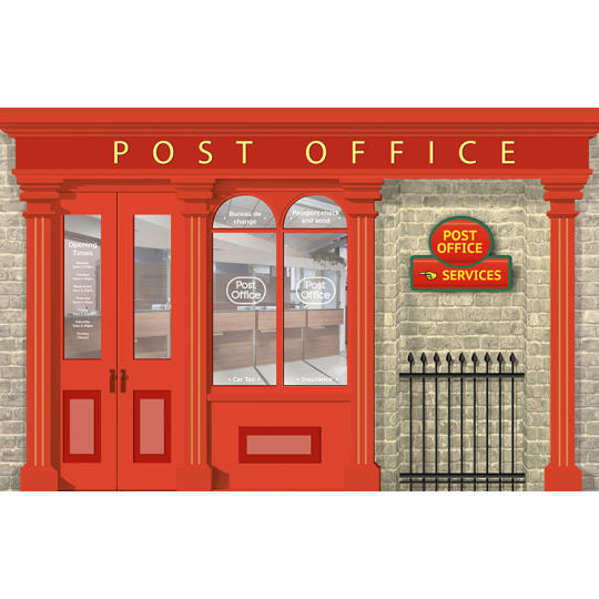 Dementia wall mural Post office and post box bundle