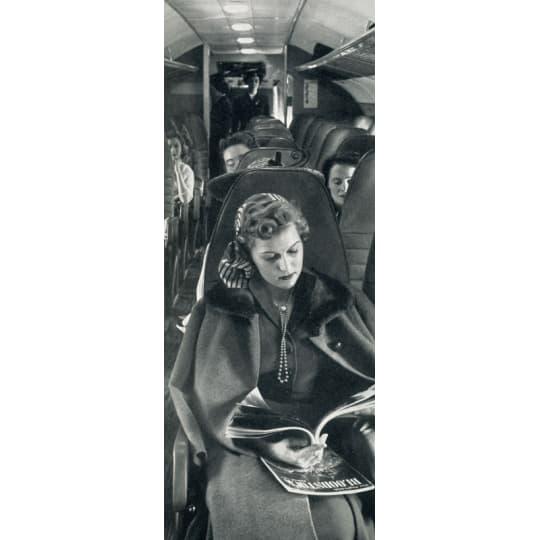 Dementia friendly Woman Traveler Reading a Magazine - A4 (210 x 297mm)