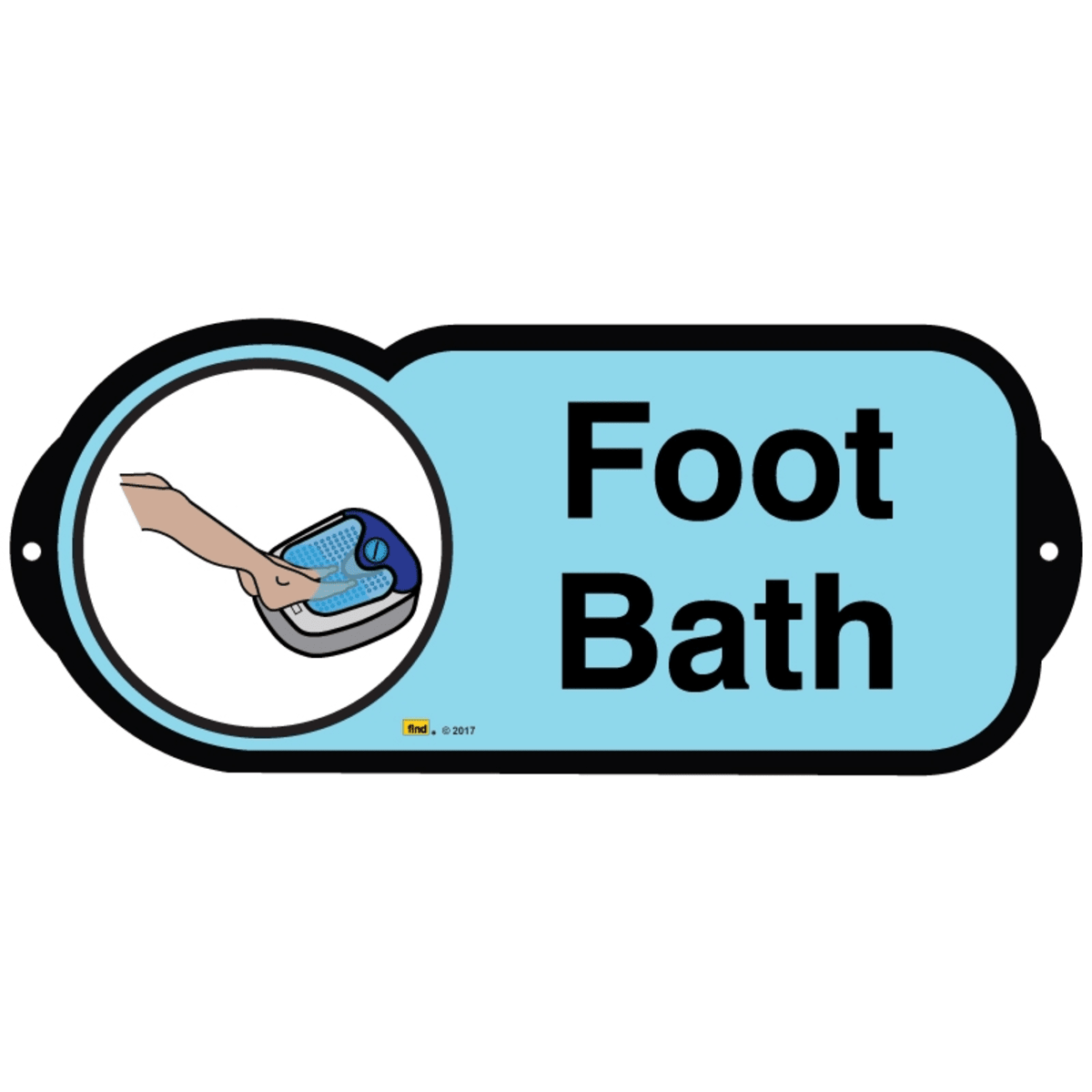 Foot Bath sign for autism and learning disabilities - signage