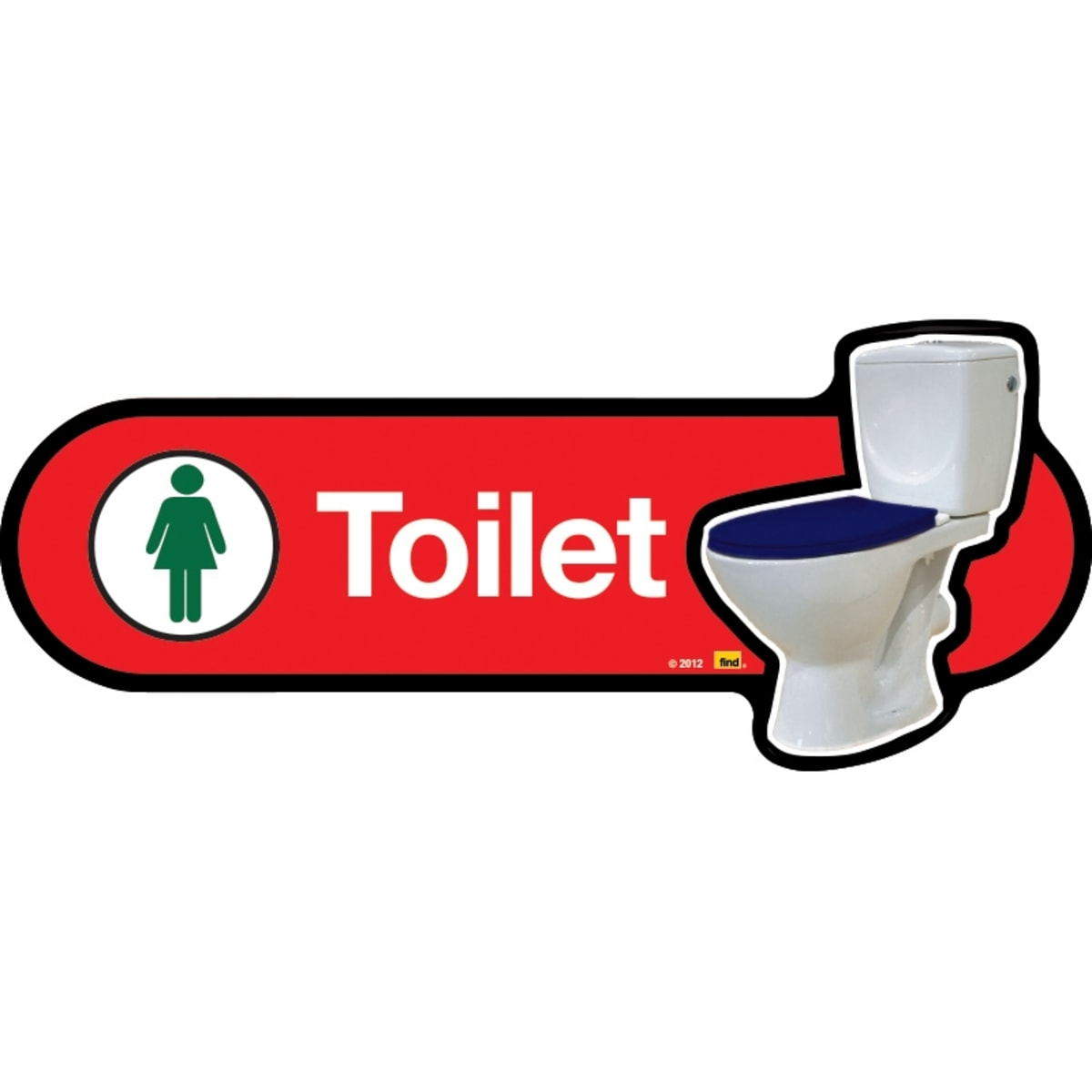 Female Toilet with Symbol - Dementia Signage for Hospitals