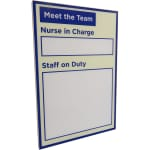 "Dry-wipe ""Staff on Duty"" display board"