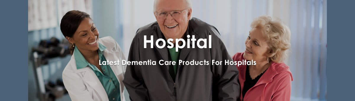 Elderly people being made more comfortable in hospital with appropriate dementia care