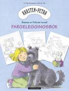 Karsten og Petra Fargeleggingsbok. Bassa er Petras hund