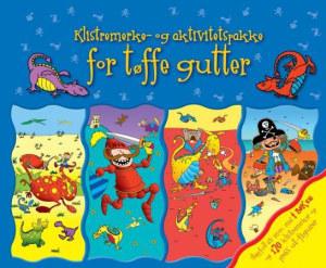 Klistremerke og aktivitetspakke for tøffe gutter. 4 klistremerke- og aktivitetsbøker
