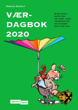 Værdagbok 2020. Dine egne notater om vær, vind, temperatur og nedbær dag for dag