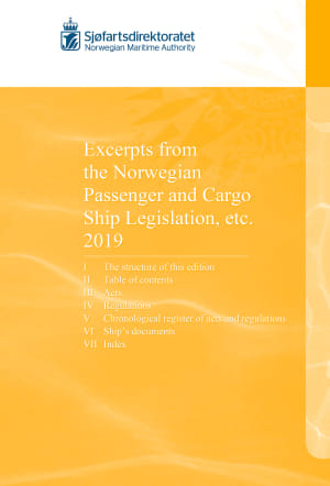 Excerpts from the Norwegian Passenger and Cargo Ship Legislation etc. 2019, bok