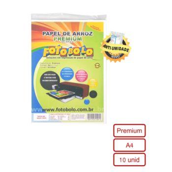 Papel Arroz Premium Fotobolo – papel 3d 10 folhas A4