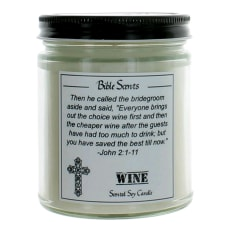 9 Oz Highly Scented Soy Candle With Bible Verse - Wine by Bible Scents