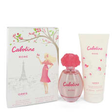 Cabotine Rose by Parfums Gres -- Gift Set -- Eau De Toilette Spray + Body Lotion for Women
