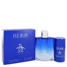 Original Penguin Ice Blue by Original Penguin Gift Set -- 3.4 oz Eau De Toilette Spray + 2.75 oz Deodorant Stick for Men