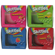 Scented Candle 4 Pack Of 3 Oz Jars - Variety by Skittles